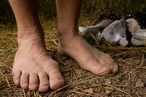 Here's an image of an ultra runner's feet who has had his nails removed: