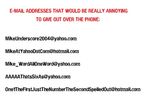 how to make up a fake email address